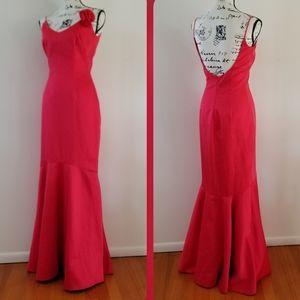 A.B.S. Evening by Allen Schwartz Red Mermaid Gown